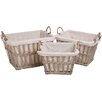 My Maison Vintage 3 Piece Deep Rectangular Basket Set