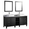 """MTD Vanities Belarus 72"""" Double Sink Bathroom Vanity Set with Mirrors"""