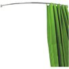 House Additions Curved Metal Shower Curtain Rail