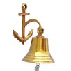 Handcrafted Nautical Decor Anchor Hanging Bell