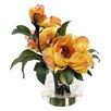 Creative Displays, Inc. Yellow Peonies in Acrylic Water Vase