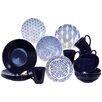 Baum Blue & White 16 Piece Dinnerware Set