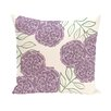 e by design Mums the Word Floral Throw Pillow