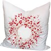 Xia Home Fashions Holiday Berry Wreath Throw Pillow