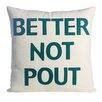 Alexandra Ferguson Better Not Pout Felt Throw Pillow