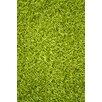 Noble House Sara Lime Green Shag Area Rug
