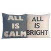 Alexandra Ferguson 2 Piece All is Calm/All is Bright Throw Pillow Set