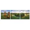 Furinno Sun & Moon Twin Pagodas 3 Piece Photographic Print Set