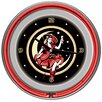 """Trademark Global 14"""" Miller High Life Girl in the Moon Vintage Wall Clock"""