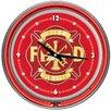 "Trademark Global 14"" Fire Fighter Wall Clock"