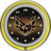"Trademark Global Pontiac 14.5"" Firebird Double Ring Neon Wall Clock"