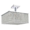 Worldwide Lighting Prism 12 Light Semi Flush Mount