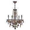 Worldwide Lighting Provence 5 Light Crystal Chandelier