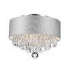 Worldwide Lighting Gatsby 3 Light Semi Flush Mount