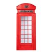 Southern Enterprises British Heritage Style Phone Box Mirror