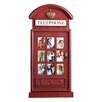 Southern Enterprises British Vintage Style Red Telephone Box Picture Frame