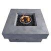 Zuo Modern Diablo Concrete Fiber Propane Fire Pit Table