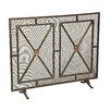 Sarreid Ltd 1 Panel Iron Fireplace Screen