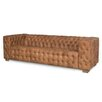 Sarreid Ltd Pelly Tufted Leather Sofa