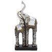 Woodland Imports Showpiece Double Elephant Figurine
