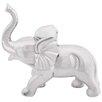 Woodland Imports Ceramic Elephant Decor Figurine