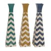 Woodland Imports Fascinating Styled Metal Vase (Set of 3)