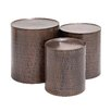 Woodland Imports 3 Piece Coffee Table Set