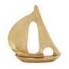 Woodland Imports Classy Aluminum Sailboat Sculpture