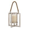 Woodland Imports Stainless Steel Glass Lantern