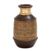 Woodland Imports Beautiful Well Designed Terracotta Painted Vase