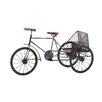 Woodland Imports The Cute Metal Wood Tricycle Sculpture