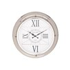 Woodland Imports Modern Stainless Steel Wall Clock
