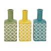 Woodland Imports Ceramic Stripe Vase (Set of 3)
