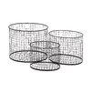 Woodland Imports 3 Piece Metal Wire Basket Set