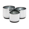 Woodland Imports 3 Piece Round Pot Planter Set