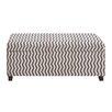 Woodland Imports Zebra Wood / Fabric Bench