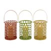 Woodland Imports 3 Piece Metal Lantern Set
