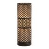 """Woodland Imports Elegant Modish Cylinder 20"""" H Table Lamp with Drum Shade"""