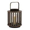 Woodland Imports Striking Wood Glass Lantern