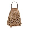 Woodland Imports Surprisingly Creative Driftwood Metal Lantern