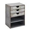 Woodland Imports Fascinating Stylish Metal Shelf With Drawers