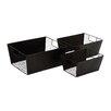 Woodland Imports Smart 3 Piece Metal Wire Basket Set