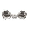 Woodland Imports Grand 3 Piece Deep Seating Group