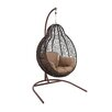 Woodland Imports Beautiful Metal Rattan Swing Chair