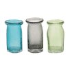 Woodland Imports 3 Piece Delicate Glass Vase Set