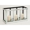 Woodland Imports The Grand Wood Mirror Candle Holder