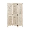 """Woodland Imports 71"""" x 48"""" Simple and Rustic 3 Panel Room Divider"""