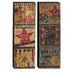 Woodland Imports Nostalgia with Wood Panel Wall Décor (Set of 2)