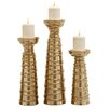 Woodland Imports 3 Piece Ceramic Candlestick Set