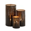 Woodland Imports 3 Piece Metal Hurricane Set